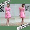 SC0004 V-neck Cap Sleeve Elegant Black Sash Decoration Lace Hem Girl's Party Casual Dresses