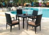 PE rattan outdoor dining set