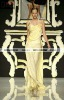 2013 New arrival glamorous body yellow spaghetti strap with beadings chiffion evening dress