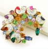 fashion women/lady brooch decorated with rhinestone