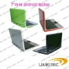 popular and new and mini 7 inch android laptop