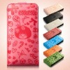 magnetic protector leather case foriphone4gs/iphone4 ,fashionable design