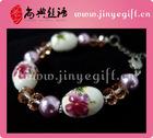 Jinye Handmade Porcelain Flower Ceramic Pretty Bracelet