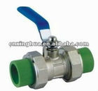 Light PPR double union ball valve