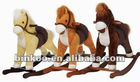ROCKING HORSE 3 ASST. (BEIGE,BROWN,TAN) WITH HORSE SOUND, MOVING MOUTH, MOVING TAIL