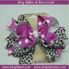 Leopard Hair Bow Triple Layered Hairbow