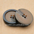 4 holes dyeable color resin bulk button with edge
