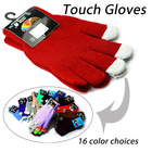 Factory Wholesale Cheapest 15 colors Fashion Solid Unisex Women Man Professional Capacitive Touch Gloves For Tablet iPhone Ipad