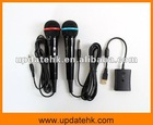 4 In 1 Wired Karaoke Microphone Mic Set For Wii PS3/PS2 Xbox 360 (2 Pack)