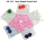 hot selling growing color Rose shape crystal soil water gel flower mud