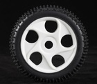 2pcs 1/8 6514 Plastic Rubber Tires Tyre Wheel for RC Car Toy Truck 1/8 Buggy Car