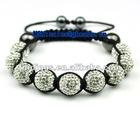 shamballa bracelets with 12mm crystal disco balls