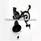 Cast Iron Black Cat Garden Wall Door Bell