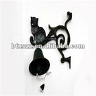Cast Iron Black Cat Garden Wall Door Bell