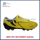 football soccer shoes 2012 new style yellow