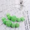 Green Shamballa Beads Pendant Hoop Earring