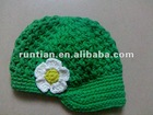 Cuter Cotton Blend Crocheted Newsgirl hat
