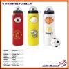 Unique design 750ml/25oz BPA free insulated basketball sports water bottles with screw top lid
