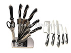 7 pcs POM forged handle knife set with acrylic stand