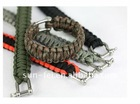 550 Paracord Bracelet, Survival Bracelet with U Shaped Stainless Shackle, 550 Paracord Survival Bracelet with whistle buckle