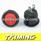 Round rocker switch KCD1-105 red