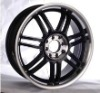 High quality replica black car alloy wheels