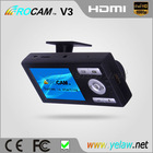 New Arrival Full HD 1080P Car DVR with H.264 Compression/HDMI and AV Out ROCAM V3 Camera Spy
