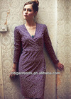 Women's Purple Wrap Dress 3397