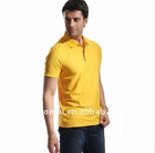 high quality single color cooldry 100% polyester fashion short sleeve men's polo t-shirt for promotional