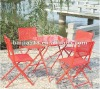 garden 5 sets folding table and chairs