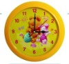 cartoon desk & wall dual purpose analog alarm clock