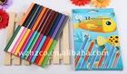 """Wooden Pencil & 7"""" multi-colors pencil in a paper box"""