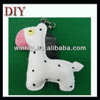 Fabric cute horse animal button eyes craft mobile phone strap