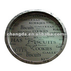 Fashion round tin tray for food packaging with item NO.CD-200