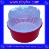 plastic basin with lid and slushing basket