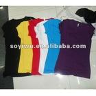 STOCK Women Girl Stretech Cotton T-shirt Top 1354372