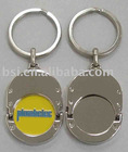 trolley coin with holder / shopping cart token keychain/promotion gift