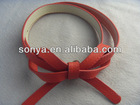 PU belts with fashion bow for girls