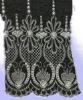 Delicate Silver cotton Embroidery Lace Fabric