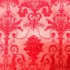 Red Abstract Flocking on non-woven fabric for industry