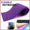 109 keys Waterproof Foldable Flexible mini USB Silicon Keyboard Purple