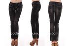 Stylish overdyed women jean pants
