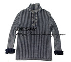 DSM544 mens cotton acid washed sweater