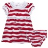 red and white striped dress and knickers set