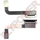 For iPad 3 charger dock connector flex cable; 100% original & New; 5pcs/lot