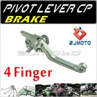 ZJMOTO For KTM 350SX-F 2005-2012 Dirt bike Motorcycle 4-Finger Pivot brake Lever Adjustable aluminum CNC lever