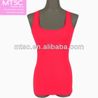 Seamless tank top with racer back for lady