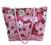 flower patterned clear tote beach bags