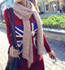 knitted lady scarf with ryhnestone