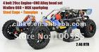 RC CAR 29cc 4 Bolt Engine Baja+CNC Alloy Head+Walbro 668 Carb+NGK Sparkplug+Steel Roll Cage+Tunepipe+2.4G